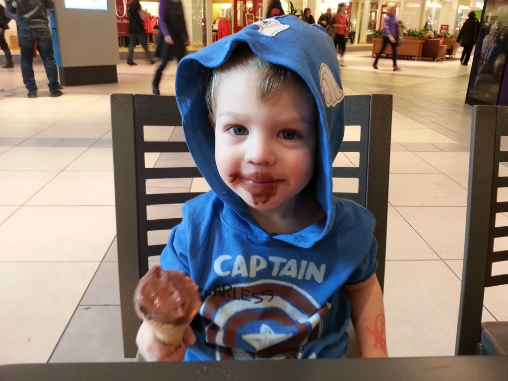 It's easy to be sweet when you are eating a Chocolate Ice Cream Cone!