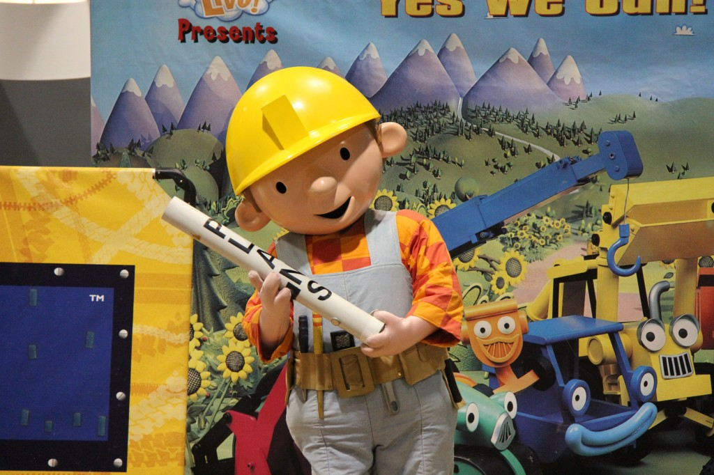 Bob the Builder at the Calgary Home + Design Show Fall 2012.  Photo provided by Brookline Public Relations.