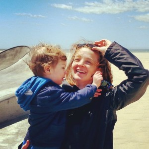 If only all the moments of motherhood were accompanied by sunny skies and smiles!