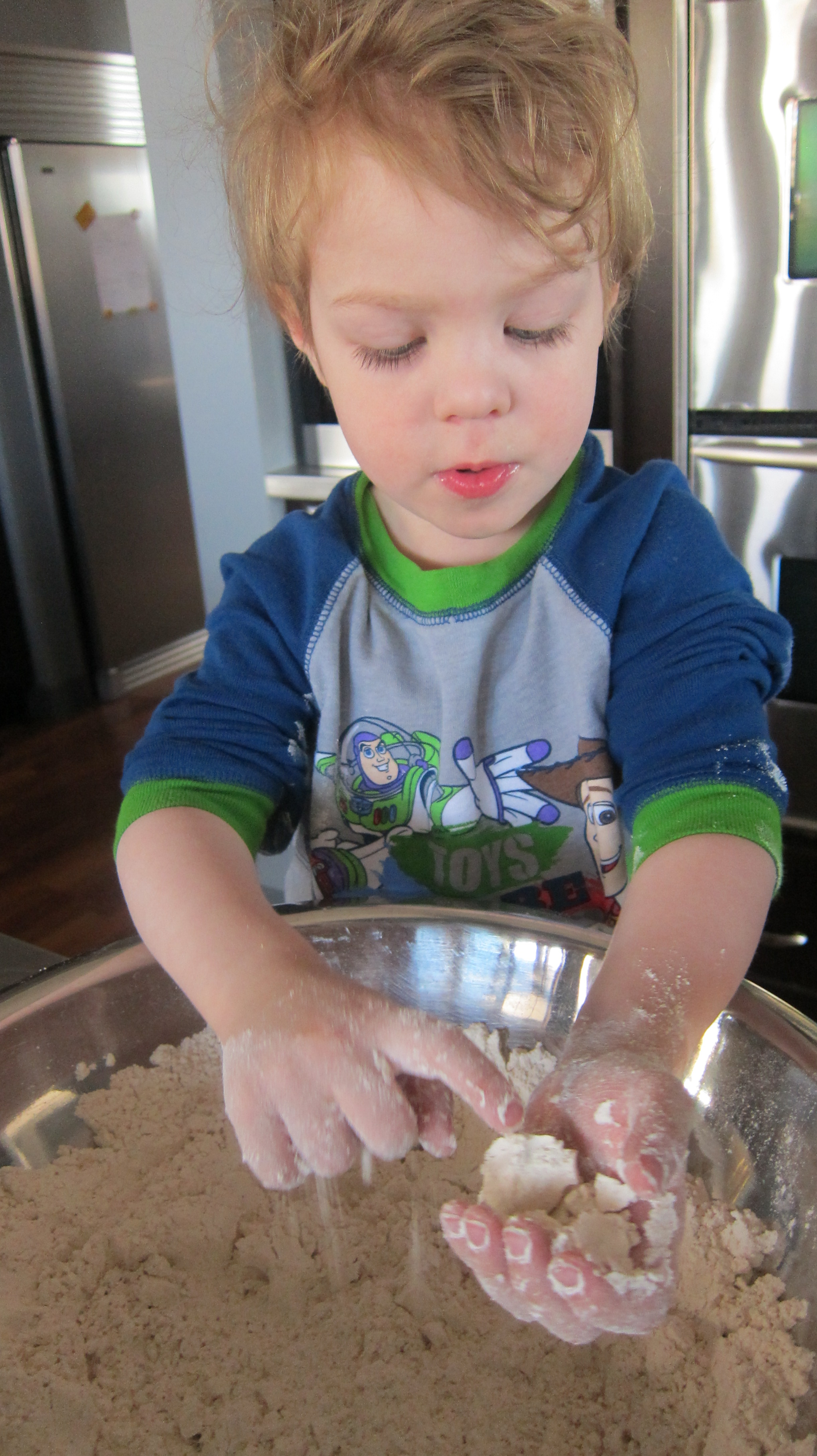 What would I do without my helper?  Bake quicker!
