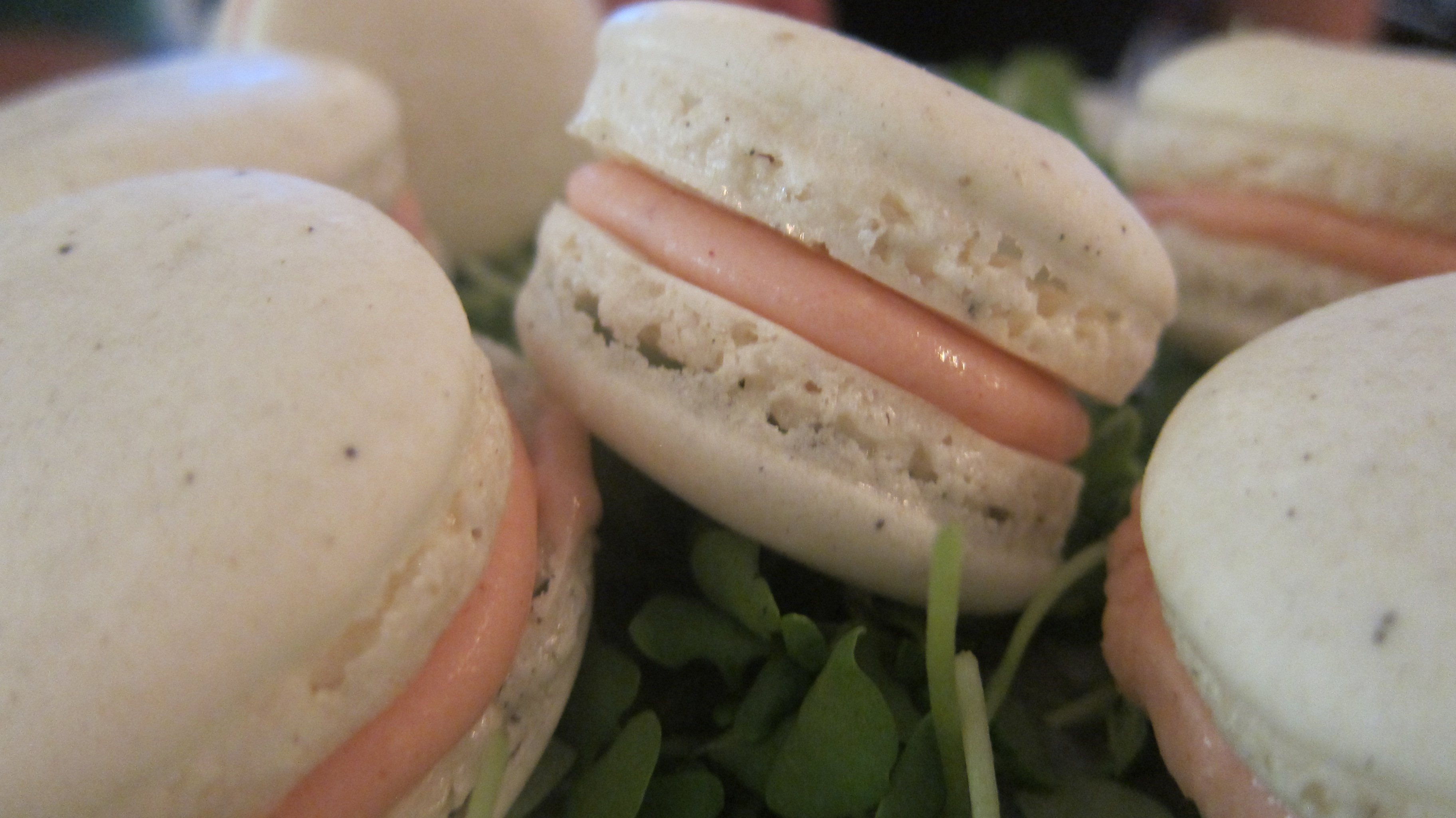 Strawberry Basil Black Pepper Macarons