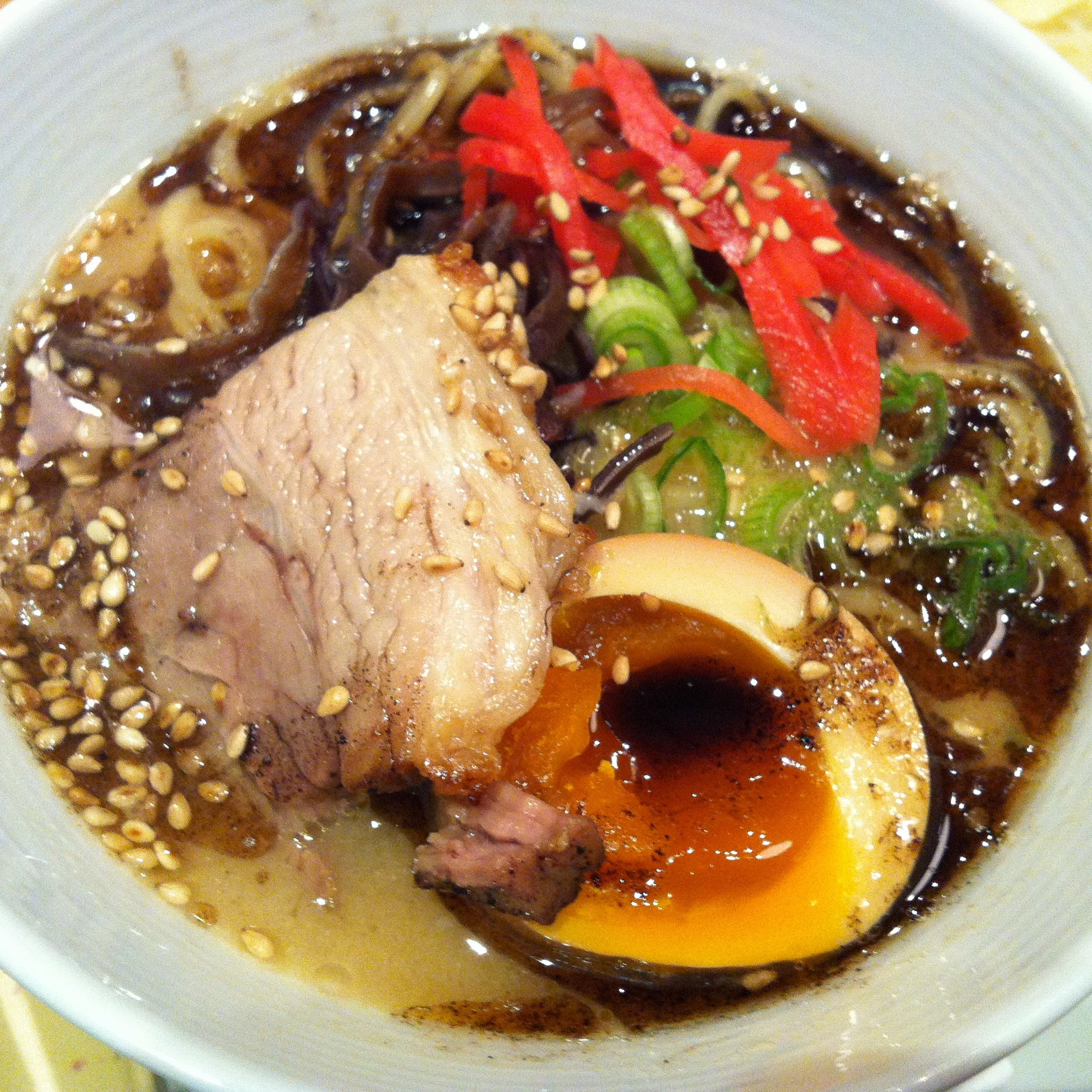 Miso Ramen with the addition of a smoked egg.