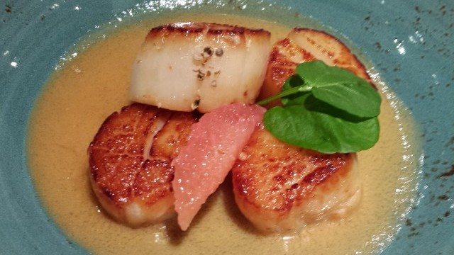 Grapefruit and Miso Scallops - You could eat a lot of these!