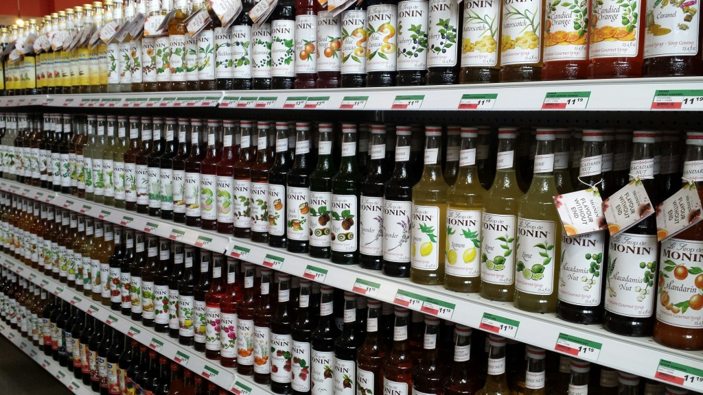 Flavoured Syrups at Spinelli's Italian Centre in Calgary.