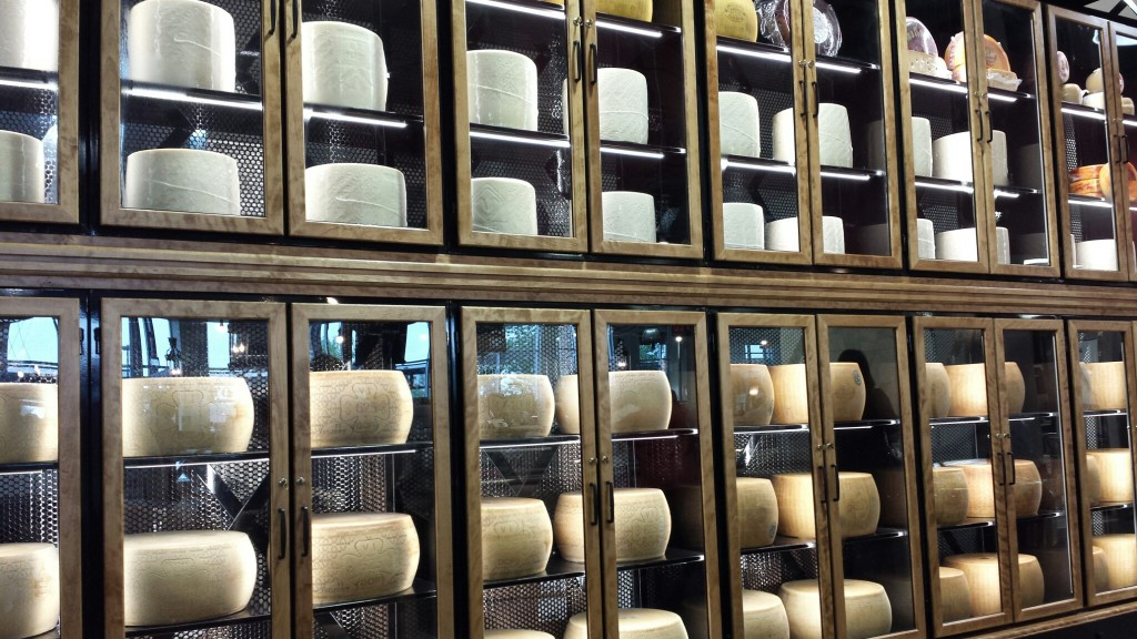 The Cathedral of Cheese at Spinelli's Italian Centre in Calgary.