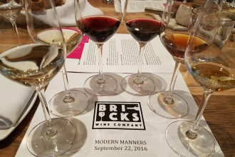 Six delightful wine pairings at a Bricks Wine Company tasting.