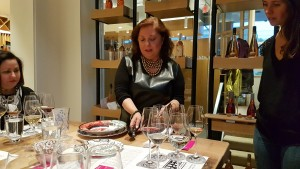 Modern Manners with Arminé Tatosian at a delightful wine tasting hosted by Brit Hart at Bricks Wine in Inglewood.