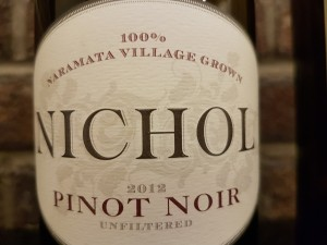 This Pinot Noir pairs well with turkey or a terrine. Bricks Wine Company