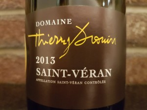 Domaine Thierry Drouin Saint-Véran La Cote Rotie. This Chardonnay  pairs well with foods from the same region. Brit went with a cheese from Burgundy and it was perfection. Bricks Wine Company