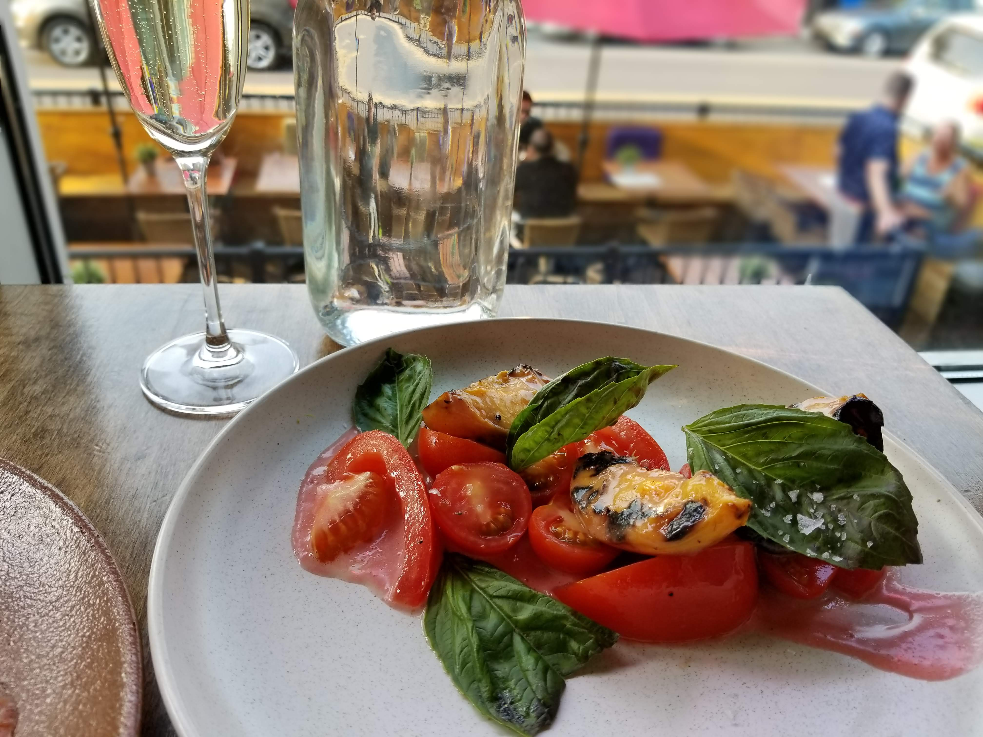 Summer Tomato, Peach & Basil Salad - Brasserie Kensington Summer Feast 2018