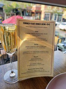Summer Feast Calgary 2018 - Brasserie Kensington Menu