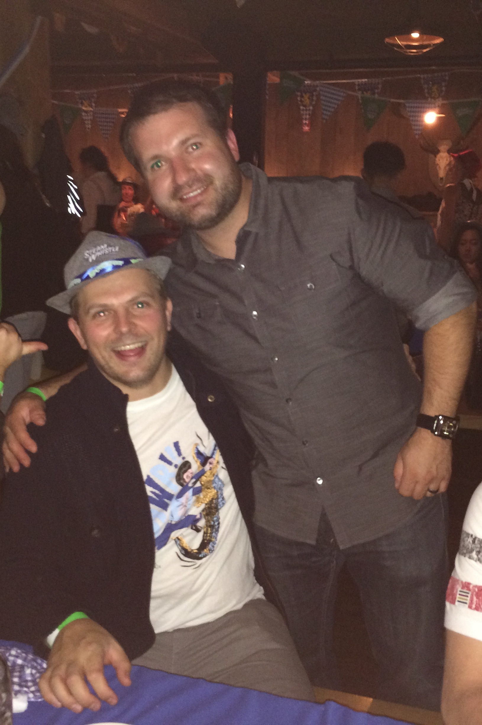 Brian and Kevin at Wurst for Oktoberfest 2014