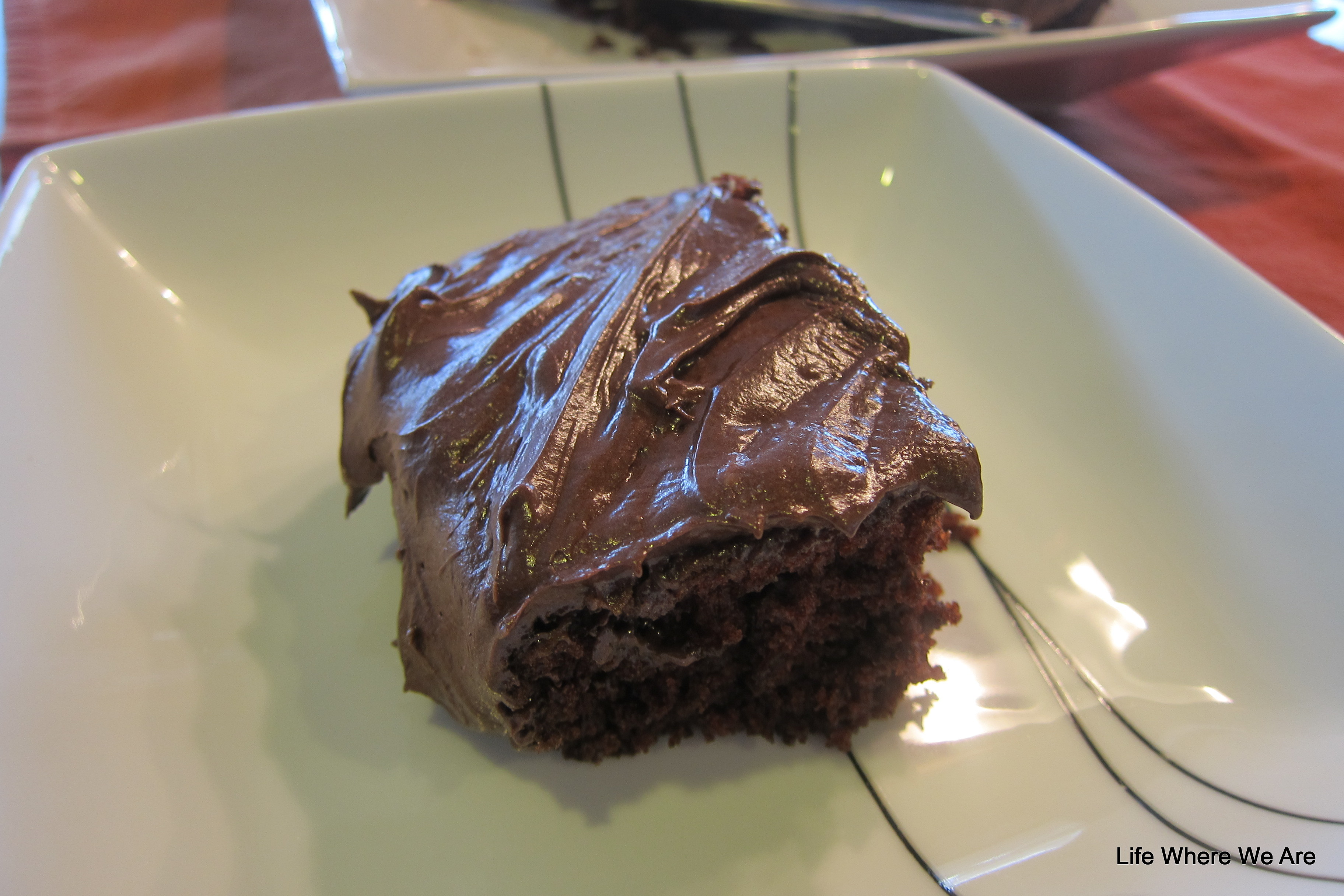 Super moist and delicious Chocolate Cake--you'd never guess the ingredients!