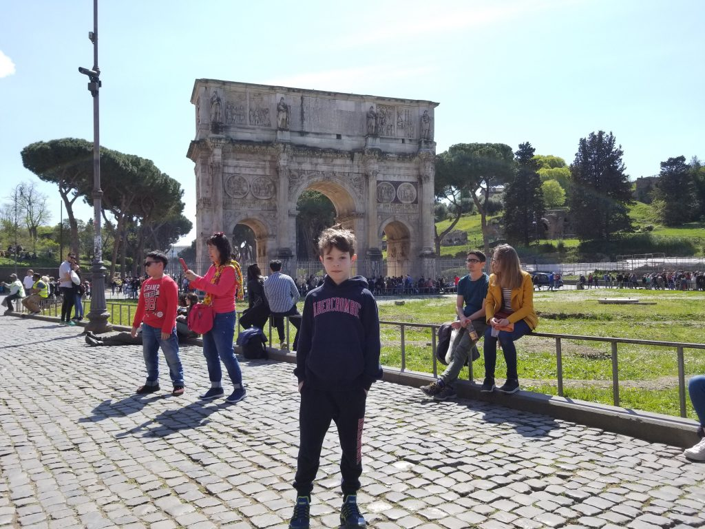 Triumphal Arch of Constantine, Rome, Italy.