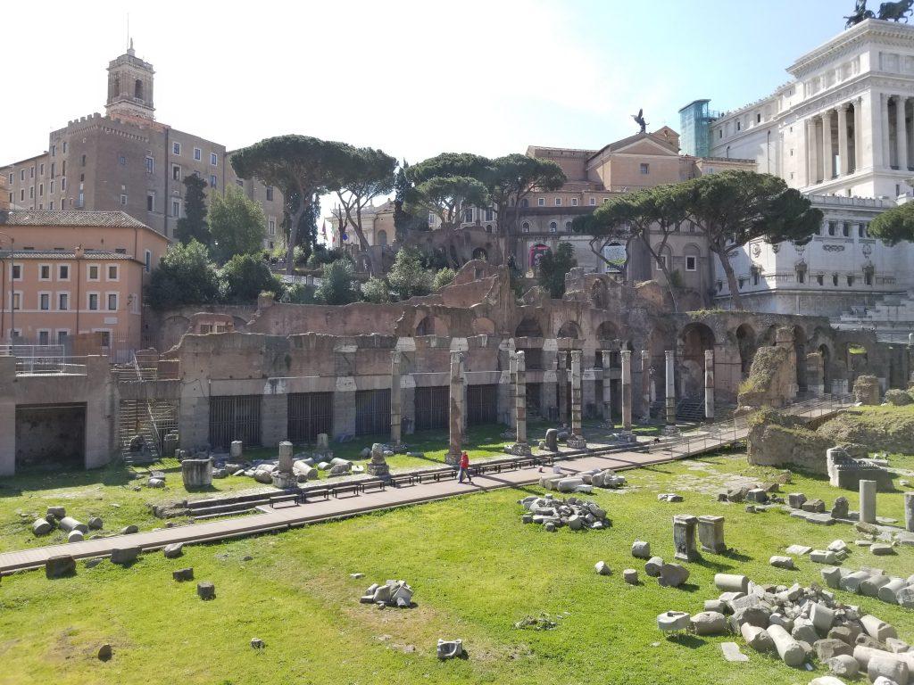 Roman Forum. Ruins. Rome Italy