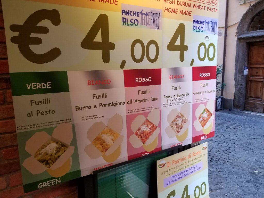 Il Pastaio di Roma fresh pasta to go Rome Italy Via Dei Coronari