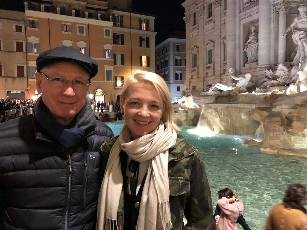 Trevi Fountain night Rome Italy